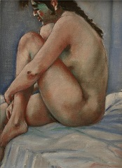 Mary, nude study of life model
